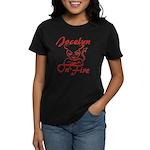 Jocelyn On Fire Women's Dark T-Shirt