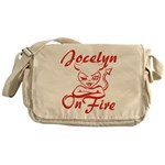 Jocelyn On Fire Messenger Bag