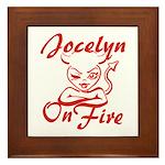Jocelyn On Fire Framed Tile
