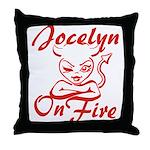 Jocelyn On Fire Throw Pillow