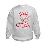 Jodi On Fire Kids Sweatshirt
