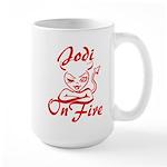 Jodi On Fire Large Mug