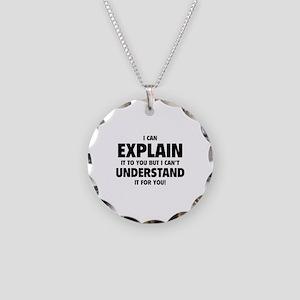 Explain Understand Necklace Circle Charm