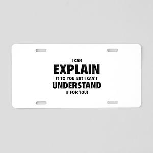 Explain Understand Aluminum License Plate