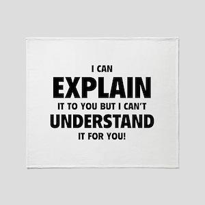 Explain Understand Throw Blanket