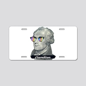 Hamilton with Shades Aluminum License Plate