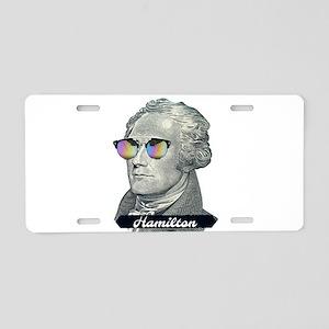 Hamilton with Shades Aluminum License Plate