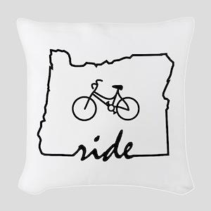 Ride Oregon Woven Throw Pillow