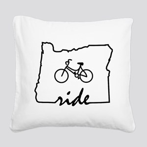 Ride Oregon Square Canvas Pillow