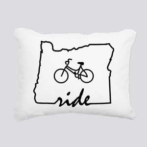 Ride Oregon Rectangular Canvas Pillow