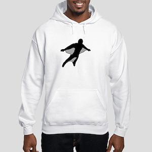 Wingsuit 2 (Black) Hooded Sweatshirt