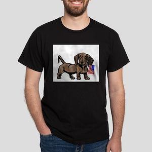 4th of July Dachshund Ash Grey T-Shirt