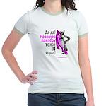 pink wolf-panther Jr. Ringer T-Shirt