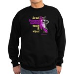pink wolf-panther Sweatshirt (dark)
