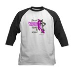 pink wolf-panther Kids Baseball Jersey