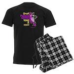 pink wolf-panther Men's Dark Pajamas