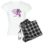 pink wolf-panther Women's Light Pajamas