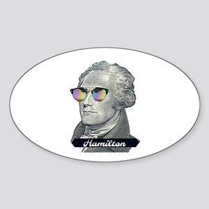 Hamilton with Shades Sticker
