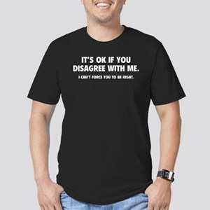 Disagree with me Men's Fitted T-Shirt (dark)