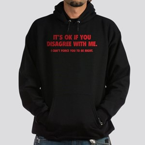 Disagree with me Hoodie (dark)