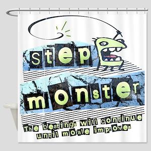 Step Monster Shower Curtain