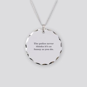 The Police Necklace Circle Charm