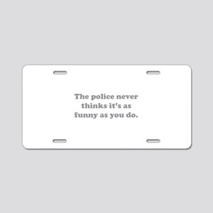 The Police Aluminum License Plate
