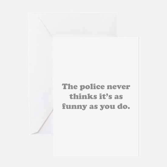 The Police Greeting Card