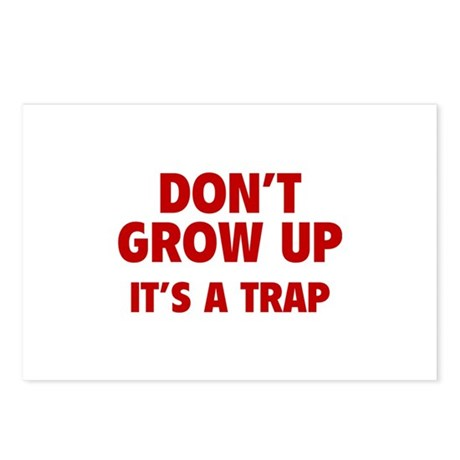 Don't grow up Postcards (Package of 8)
