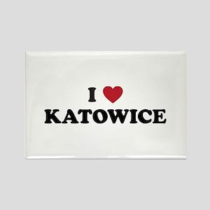 I Love Katowice Rectangle Magnet