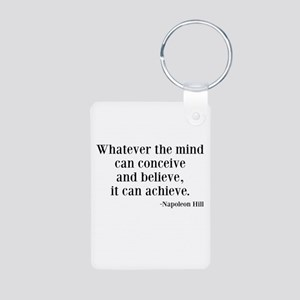 Napoleon Hill Quote Aluminum Photo Keychain