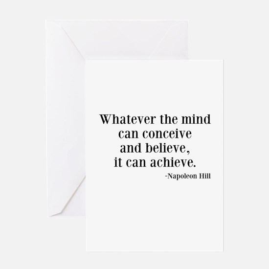 Napoleon Hill Quote Greeting Card