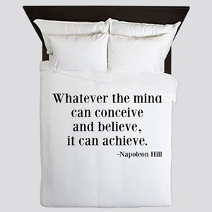 Napoleon Hill Quote Queen Duvet
