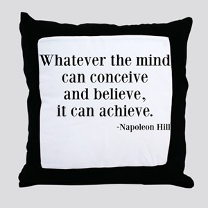 Napoleon Hill Quote Throw Pillow