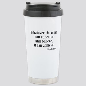 Napoleon Hill Quote Stainless Steel Travel Mug