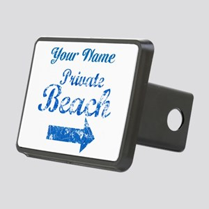 Custom Private Beach Rectangular Hitch Cover