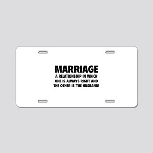 Marriage Aluminum License Plate