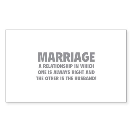 Marriage Sticker (Rectangle 10 pk)
