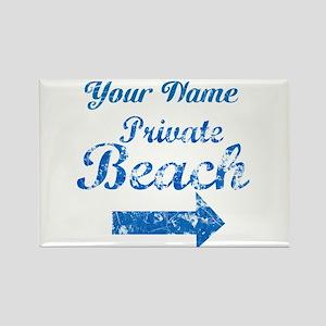 Custom Private Beach Rectangle Magnet