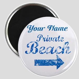 Custom Private Beach Magnet