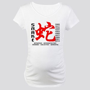 Chinese New Years of The Snake Maternity T-Shirt