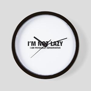 I'm not lazy Wall Clock