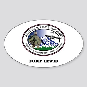 Fort Lewis with Text Sticker (Oval)