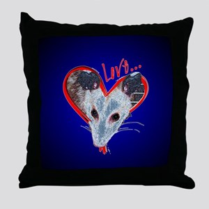 Possum Love Throw Pillow