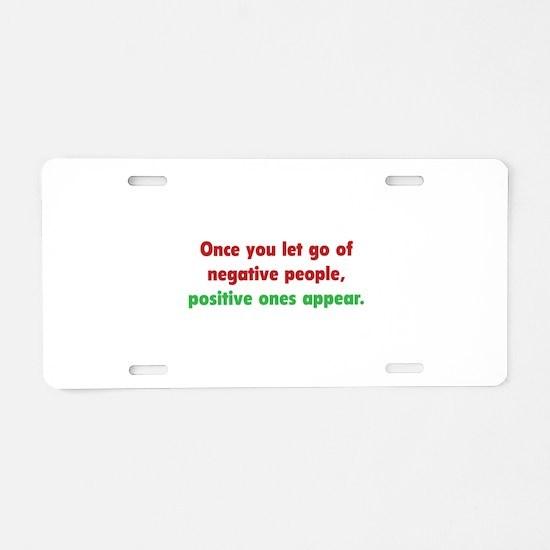 Positive People Aluminum License Plate