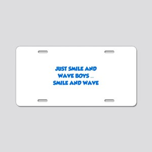Smile and Wave Aluminum License Plate