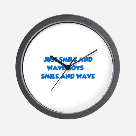 Smile and Wave Wall Clock