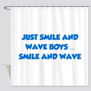 Smile and Wave Shower Curtain