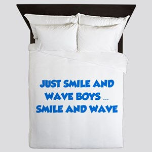 Smile and Wave Queen Duvet