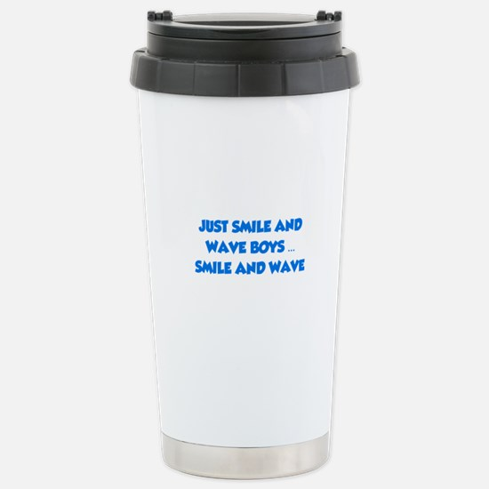 Smile and Wave Stainless Steel Travel Mug